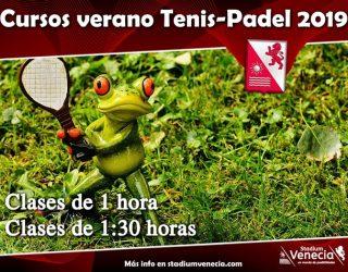 Cursos intensivos Tenis Padel Verano 2019