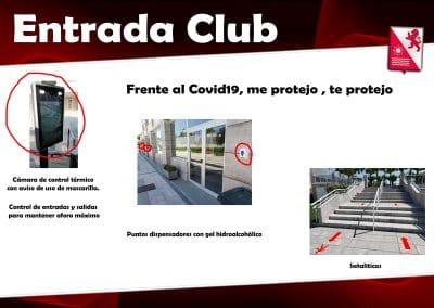 Informacion asociados entrada club covid