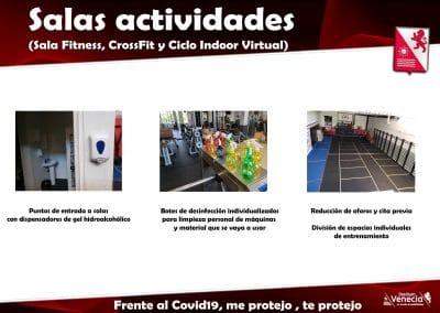 Informacion asociados salas actividades covid