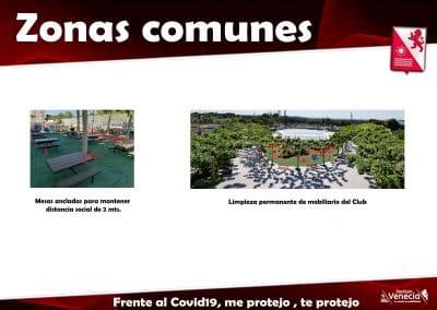 Informacion asociados zonas comunes covid