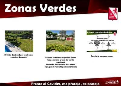 Informacion asociados zonas verdes covid