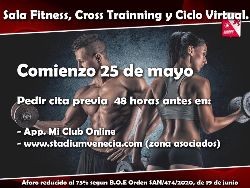 Cita previa Sala Fitness, Cross Trainning y Ciclo Indoor