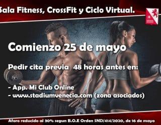 Cita previa Sala Fitness, Crossfit y Ciclo Indoor
