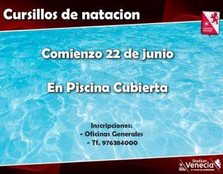 Cursillos natación verano 2020