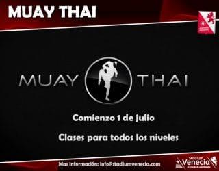Muay Thai, desde Julio en STV