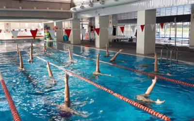Entrenos de natación artística