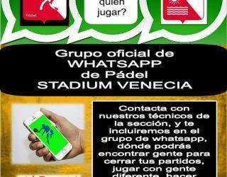 Grupo WhatsApp Pádel